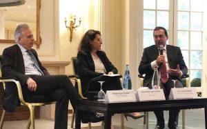 وزير البترول خلال مشاركته بجلسة دور الغاز المسال في تأمين إمدادات الغاز بالبحر المتوسط